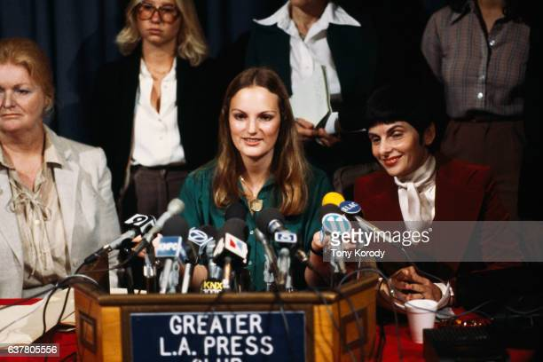 Press conference of Patricia Hearst On February 4 the 19yearold Hearst granddaughter of publishing magnate William Randolph Hearst was kidnapped from...