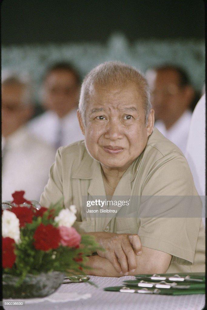 Press conference of Prince Norodom Sihanouk