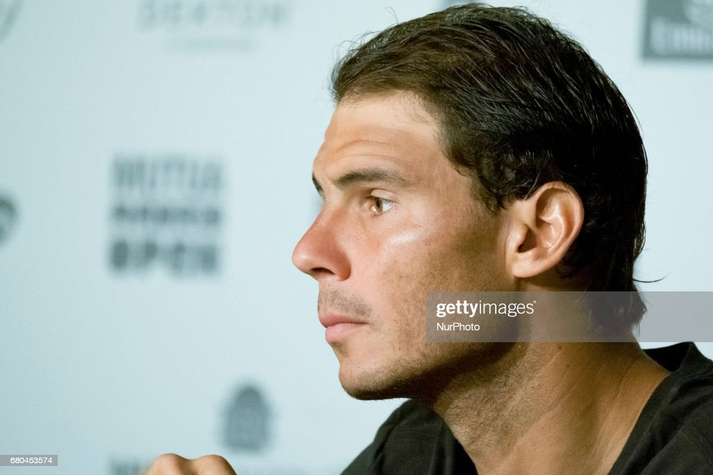 Press conference of Rafa Nadal of Spain against during day three of the Mutua Madrid Open tennis at La Caja Magica on May 8, 2017 in Madrid, Spain.