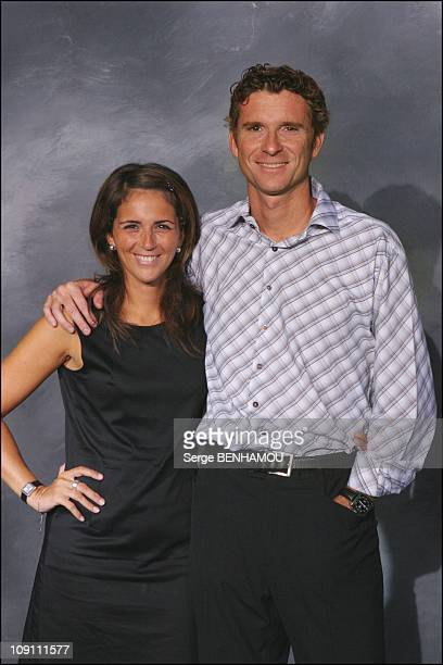 Press Conference Of Tf1 French Tv Channel On August 27 2003 In Paris France Valerie Benaim And Denis Brogniart