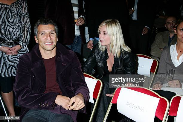 Press Conference Of Tf6 At Cabaret In Paris France On September 18 2007 Nagui and Flavie Flament