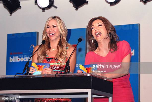 AWARDS 2014 Press Conference Pictured Aylin Mujica and Laura Flores at the Press Conference for the 2014 Billboard Latin Music Awards presented by...