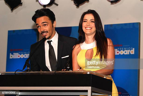 AWARDS 2014 Press Conference Pictured Shalim Ortiz and Daniela Navarro at the Press Conference for the 2014 Billboard Latin Music Awards presented by...