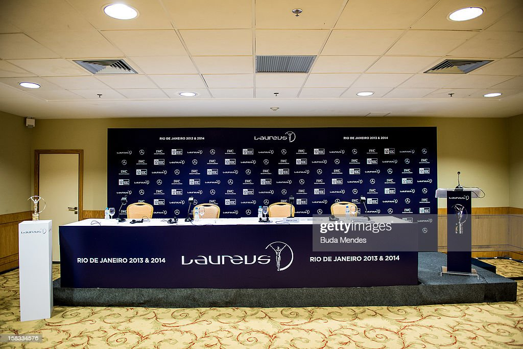Press conference to announce the Nominees for the 2012 Laureus World Sports Awards at Windsor Atlantica Hotel on December 13, 2012 in Rio De Janeiro, Brazil. The Laureus World Sports Awards is recognised as the premier honours event in the international sporting calendar as stars of the sporting world come together to salute the finest sportsmen and sportswomen of the year.