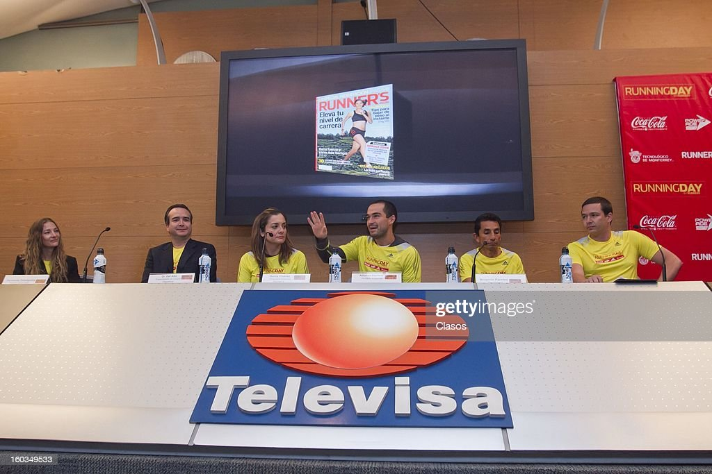 Press conference to announce the Running Day in Mexico on January 29, 2013 in Mexico City, Mexico.