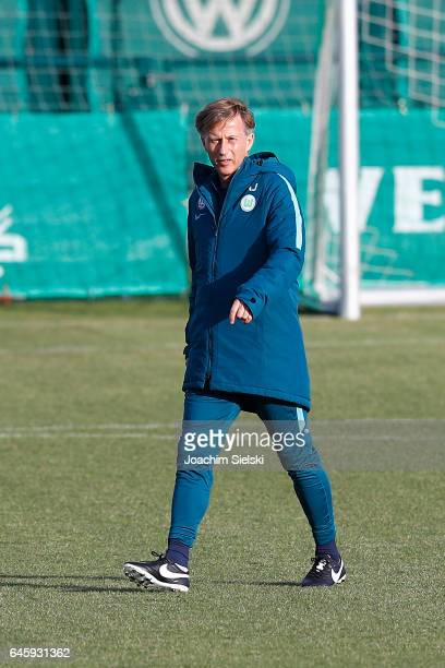 Press Conference Training of VfL Wolfsburg with the new Head Coach Andries Jonker at Volkswagen Center on February 27 2017 in Wolfsburg Germany