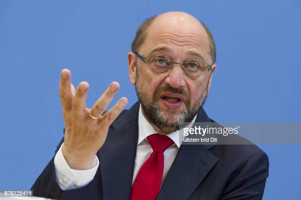 Press Conference with Martin Schulz President of the European Parliament in the Berlin Federal Press Conference on September 22 2016 Topic is the...
