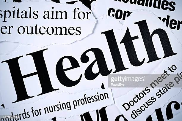 Press headlines all concerned with health issues
