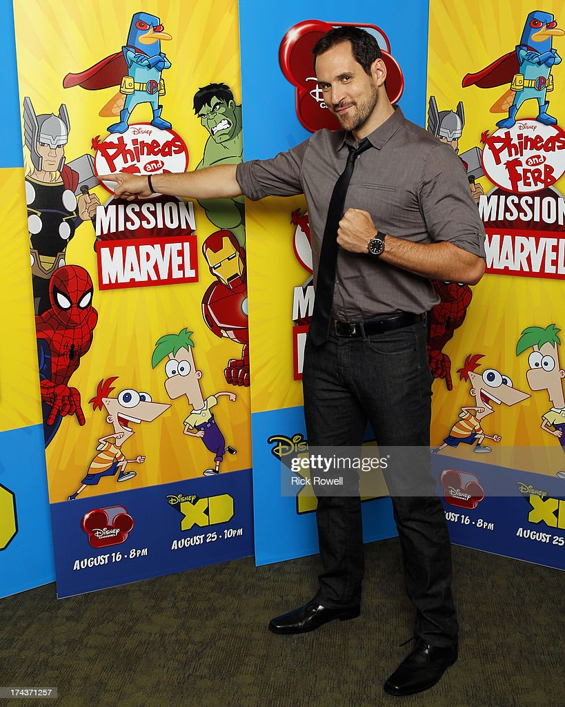 FERB - Press Junket - The 'Phineas and Ferb: Mission Marvel' cast and creative team at the 'Phineas and Ferb: Mission Marvel' press junket in Burbank, California on July 23, 2013. 'Phineas and Ferb: Mission Marvel,' the first ever crossover television special for Marvel and Disney properties premieres Friday, August 16 (8:00 p.m., ET/PT) on Disney Channel. TRAVIS