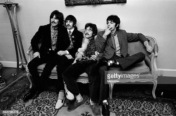 Press launch of 'Sgt Pepper's Lonely Hearts Club Band' the eighth studio album by The Beatles May 1967 Pictured at house in Chalep St Belgravia...