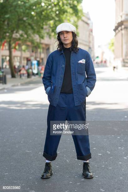 Press Manager for We are outlanders Galih Richardson wears GH Bass shoes Kings of Indigo socks and trousers Top man sweater Rory Hutton pocket square...