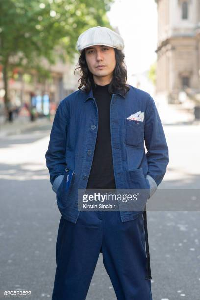 Press Manager for We are outlanders Galih Richardson wears Kings of Indigo socks and trousers Top man sweater Rory Hutton pocket square Samsoe and...