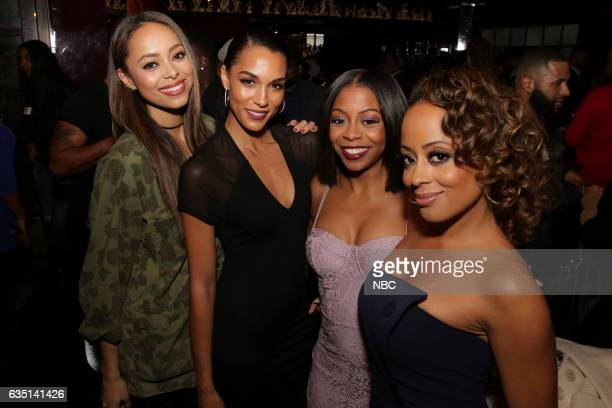 Press Mingle at Estrella West Hollywood Pictured Amber Stevens West 'The Carmichael Show' Brooklyn Sudano 'Taken' Bresha Webb 'Marlon' Essence Atkins...