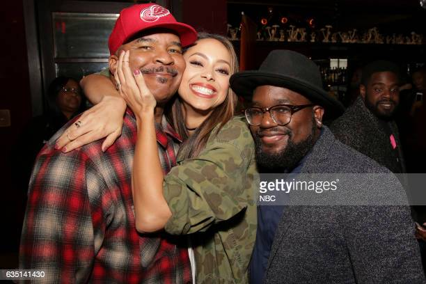 Press Mingle at Estrella West Hollywood Pictured David Alan Grier Amber Stevens West Lil Rel Howery 'The Carmichael Show'