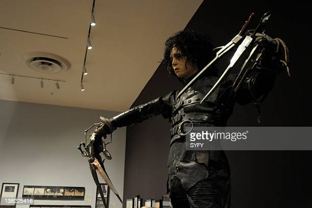 ART 'Press Preview for the Tim Burton Exhibit at The Museum of Modern Art' in New York City on November 16 2009 Pictured Edward Scissorhands statue