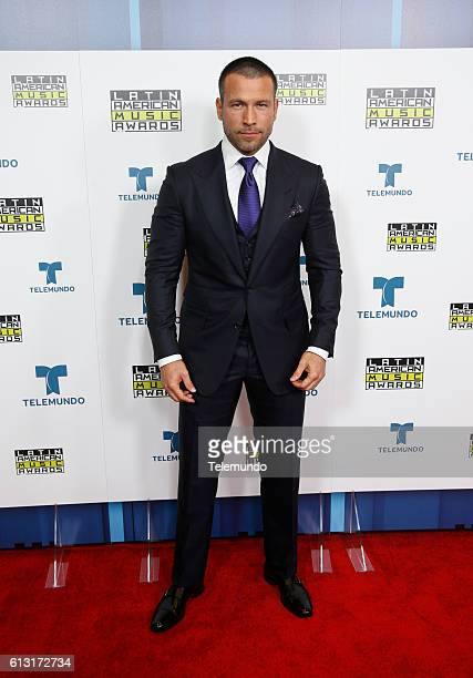 AWARDS 'Press Room' Pictured Actor Rafael Amaya poses backstage at the 2016 Latin American Music Awards at the Dolby Theater in Los Angeles CA on...