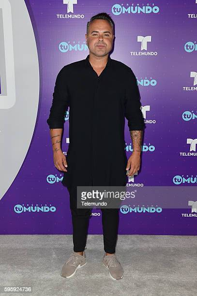 MUNDO 2016 'Press Room' Pictured Juan Magan backstage at the 2016 Premios Tu Mundo at the American Airlines Arena in Miami Florida on August 25 2016