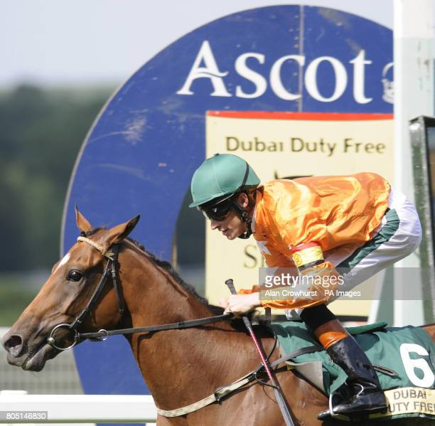 Press The Button and Richard Hughes cross the line first to give Hughes his third winner of the meeting in the Michael Page International Shergar Cup...