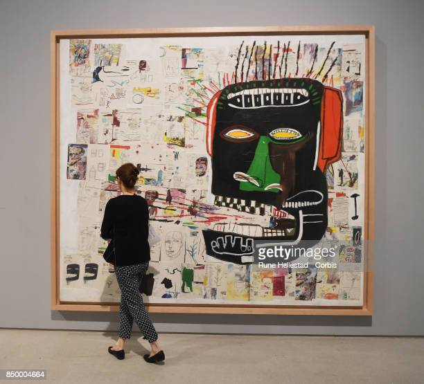 Press view of Basquiat Boom For Real at Barbican Centre on September 20 2017 in London England
