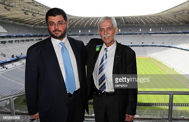 Pressekonferenz mit dem jordanischen Investor und Partnerr Hasan Ismaik beim TSV 1860 Munchen in der Allianz Arena mit Präsident Dieter Schneider