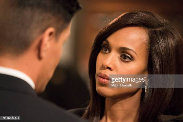 SCANDAL 'Pressing the Flesh' President Mellie Grant hosts a state dinner for President Rashad of Bashran in a first step toward peace in the Middle...