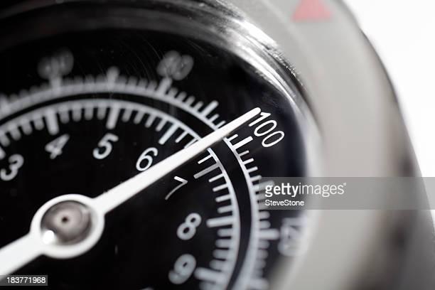Pressure Gauge Dial at 100