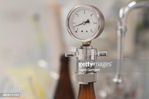 Pressure gauge in brewery