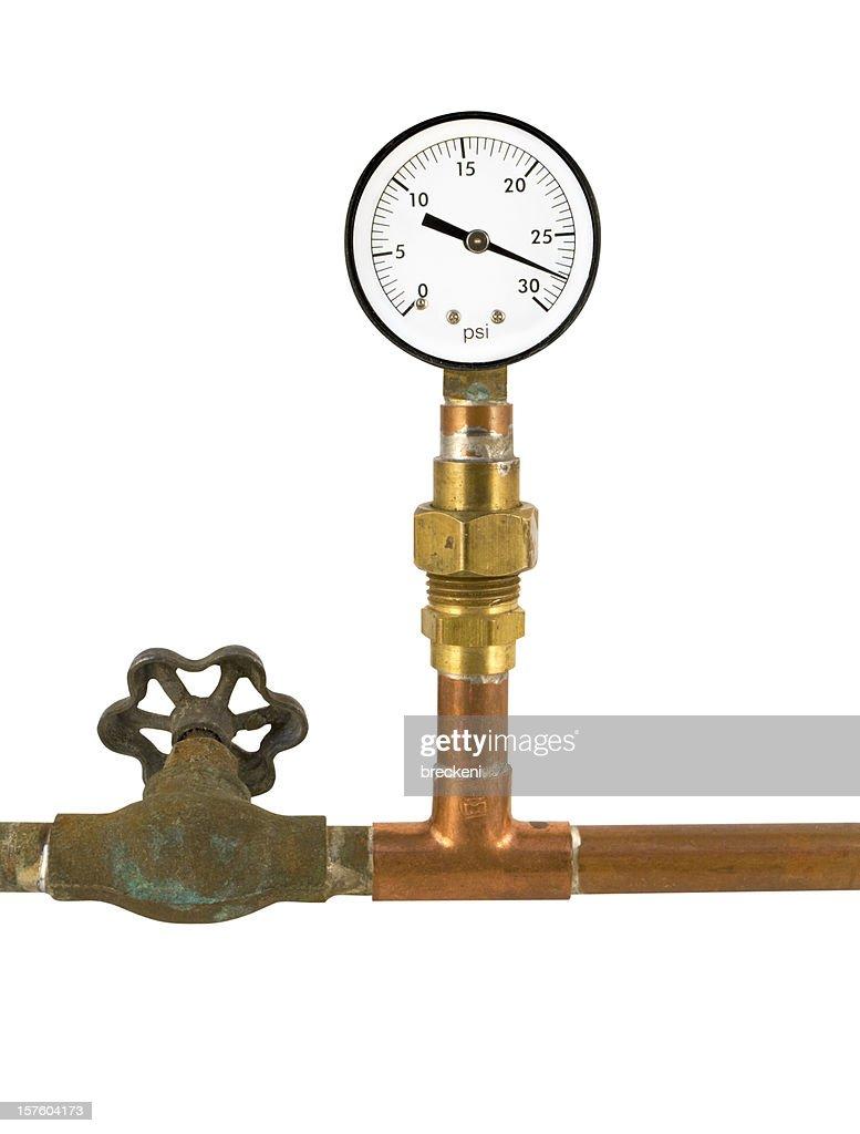 pressure gauge valve and plumbing