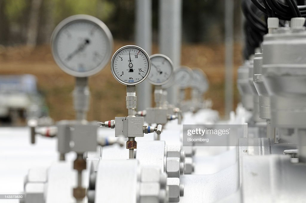 Pressure gauges are seen at a control station for the Gazelle gas pipeline, operated by Net4Gas, near the border in Brandov, Czech Republic, on Wednesday, April 25, 2012. RWE AG has about 20 potential buyers for its Net4Gas unit, which operates the Czech gas pipeline network, Lidove Noviny reported without citing anyone. Photographer: Vladimir Weiss/Bloomberg via Getty Images