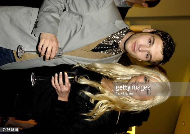 Preston and Chantelle Houghton at the Prada Store in London United Kingdom