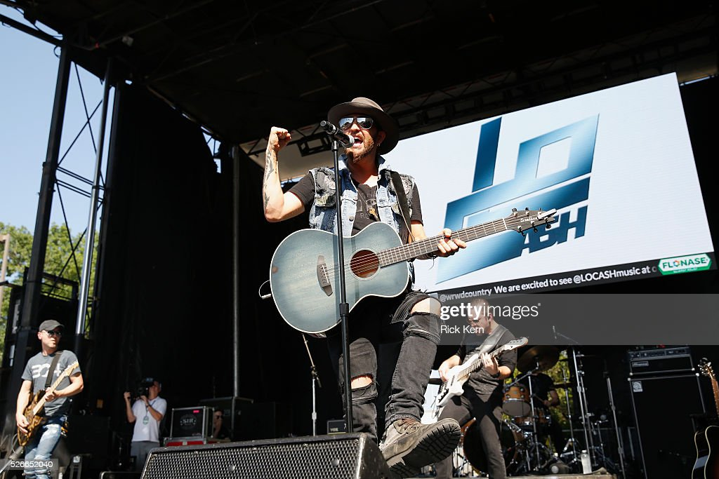 Preston Brust of LOCASH performs live during the 2016 Daytime Village at the iHeartCountry Festival at The Frank Erwin Center on April 30, 2016 in Austin, Texas.