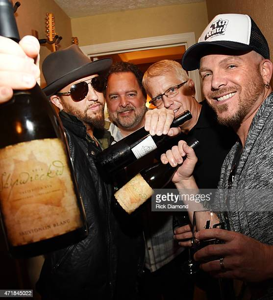 Preston Brust Tony Conway Jon Ozor and Chris Lucas attend 'Shipwrecked' signature wine tasting recepting on April 30 2015 in Brentwood Tennessee