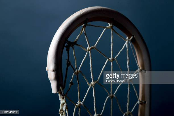 TORONTO ON FEBRUARY Preston Jacobs Kahnawake Mohawk Nation Kahnawake Quebec Six lacrosse stickmakers from different First Nations communities made...