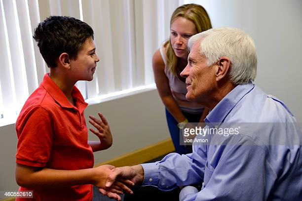 Preston meets Dr Alan Shackelford at his office in Denver He and his mother Ana are visiting the doctor for help with Preston's dosing Shackelford...