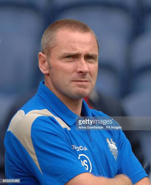 Preston North End manager Paul Simpson before the preseason friendly at Deepdale Preston