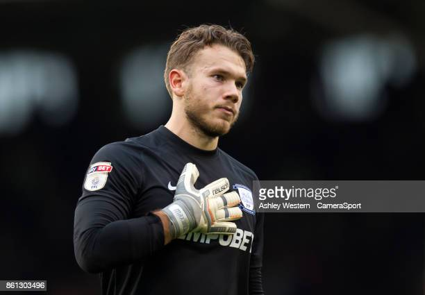 Preston North End's Chris Maxwell during the Sky Bet Championship match between Fulham and Preston North End at Craven Cottage on October 14 2017 in...