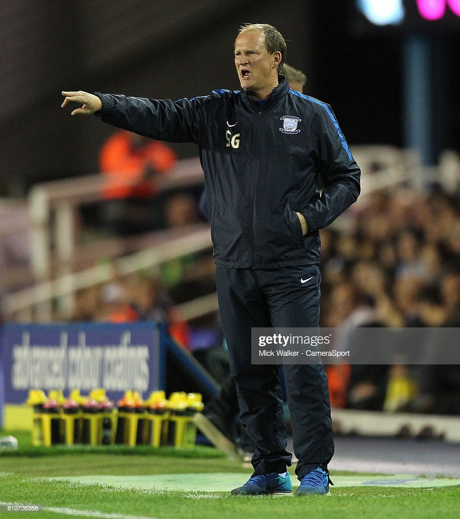 Preston North End's Manager Simon Graysonduring the Sky Bet Championship match between Birmingham City and Preston North End at St Andrews (stadium) on September 27, 2016 in Birmingham, England.