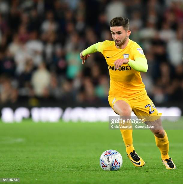 Preston North End's Sean Maguire during the Sky Bet Championship match between Derby County and Preston North End at Pride Park Stadium on August 15...