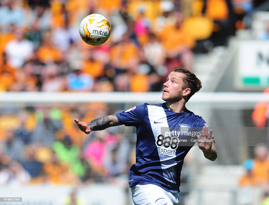 Preston North End's Stevie May during the Sky Bet Championship match between Wolverhampton Wanderers and Preston North End at Molineux on May 7, 2017 in Wolverhampton, England.
