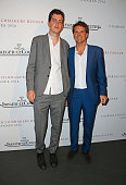 Preston Thompson and Barnaby Thompson attend The 8th Annual Filmmakers Dinner hosted by Charles Finch and JaegerLeCoultre at Hotel du CapEden Roc on...