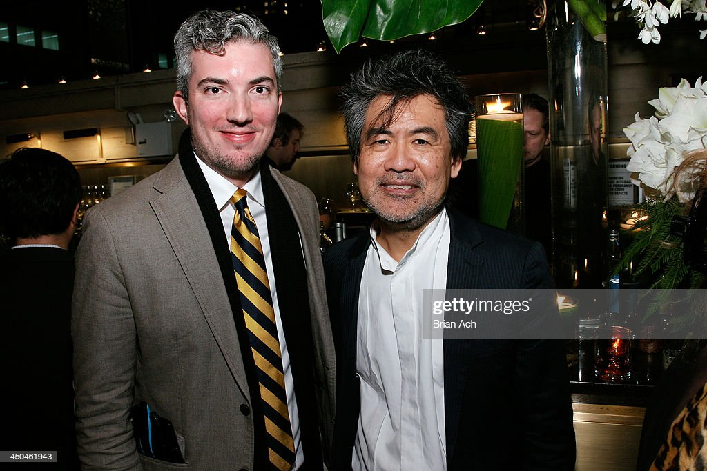 Preston Whiteway and playwright David Henry Hwang attend The 2013 Steinberg Playwright 'Mimi' Awards presented by The Harold and Mimi Steinberg Charitable Trust at Lincoln Center Theater on November 18, 2013 in New York City.
