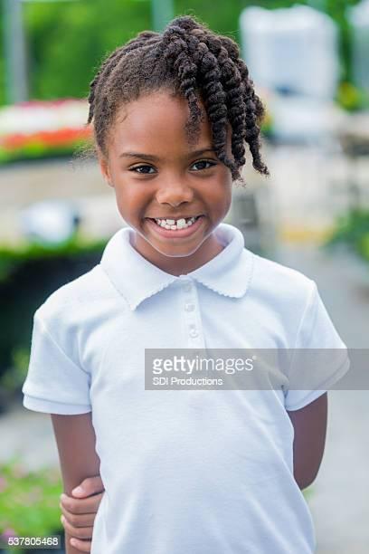 Ziemlich afroamerikanische Mädchen