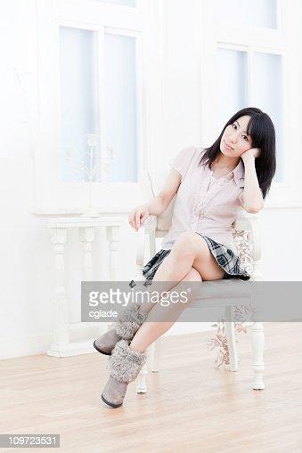 Bella Donna asiatica : Stock Photo