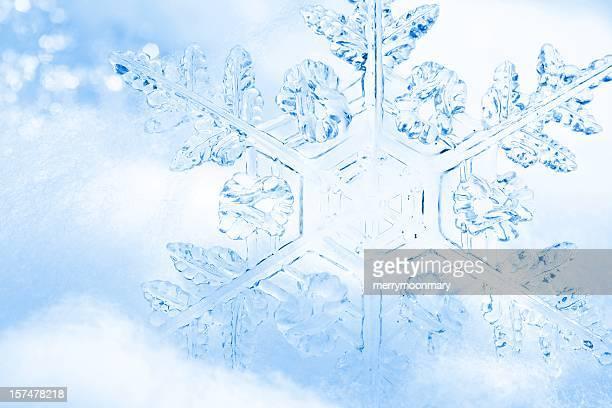 Pretty Blue Snowflake Background