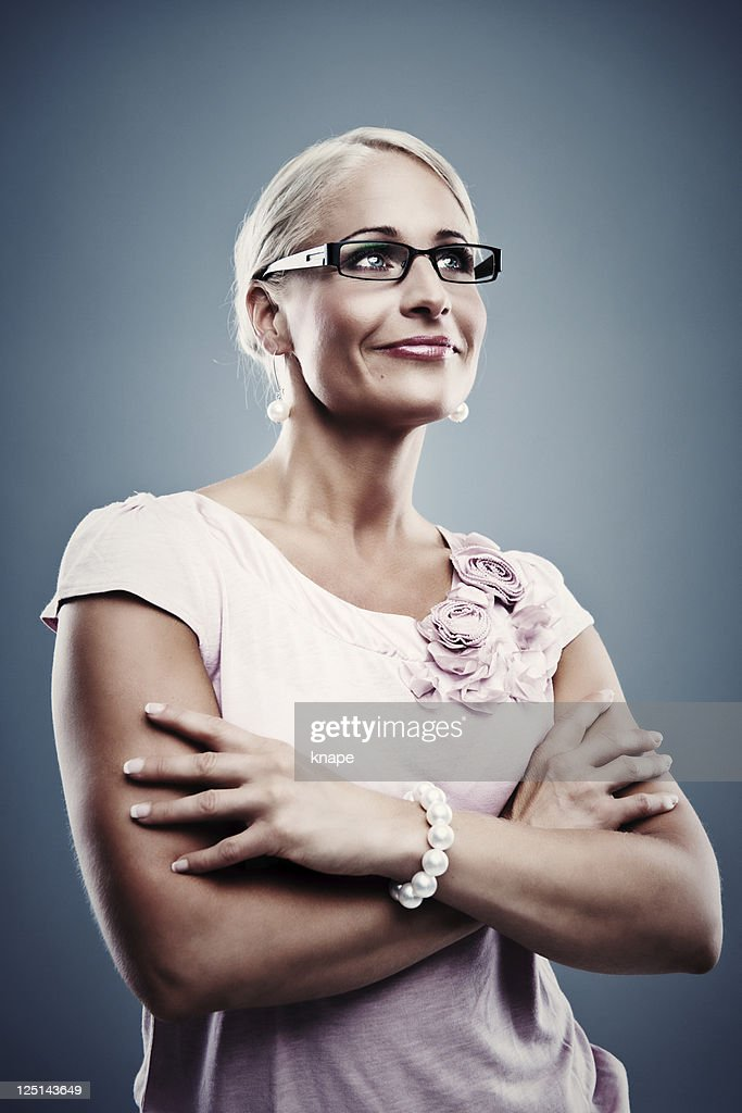 Pretty business woman : Stock Photo