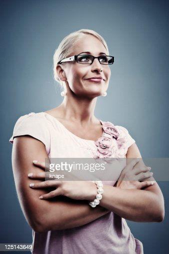 Pretty business woman : Stock Photo