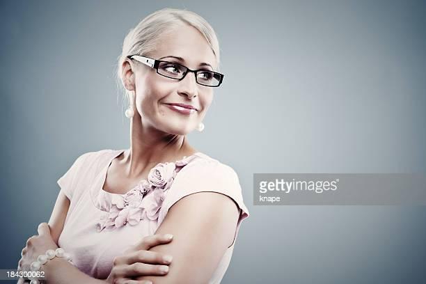 Hübsche business Frau