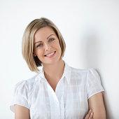 Pretty female Executive Smiling