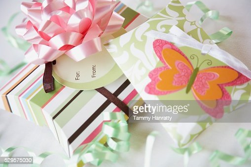 Pretty Gift Boxes : Stock Photo