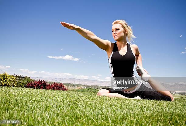 Pretty Girl Doing Yoga